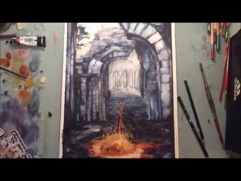 480x360 Dark Souls 3 Commission Original Watercolor