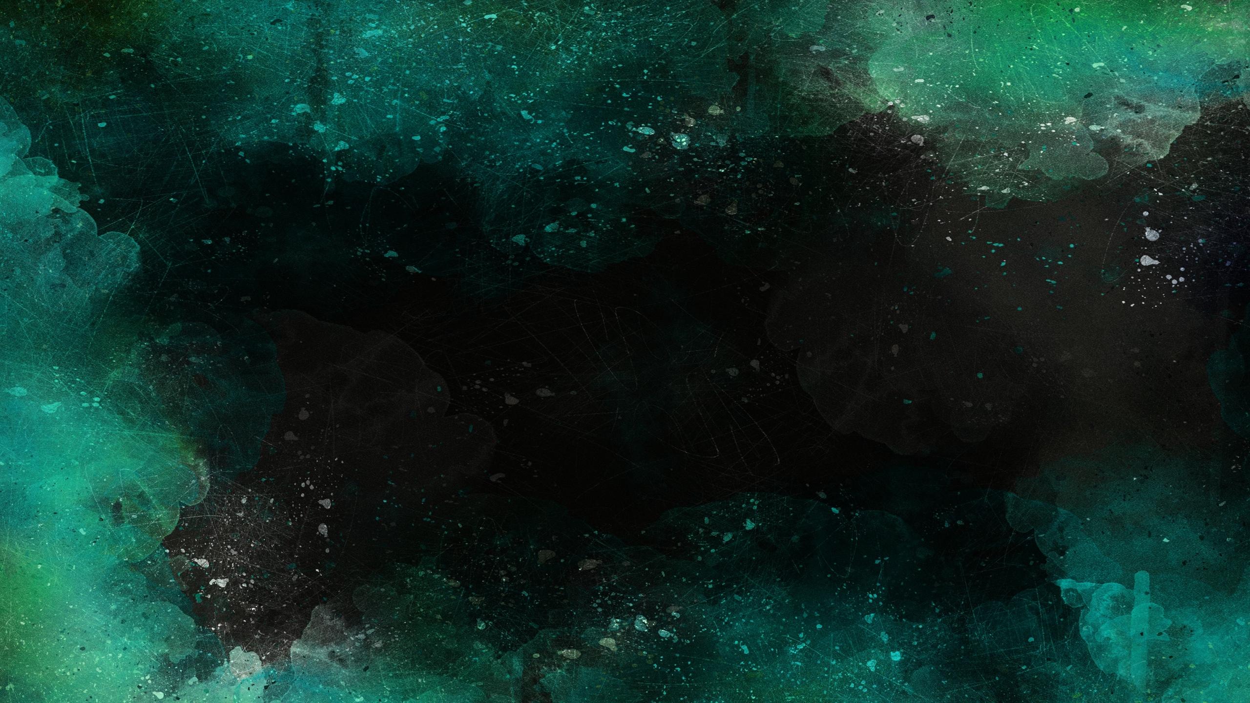 2560x1440 Download Wallpaper 2560x1440 Abstraction, Watercolor, Dark, Spots