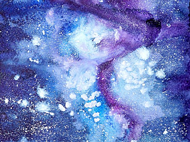 650x487 Fresh Dark Blue Watercolor Background, Watercolor, Fresh