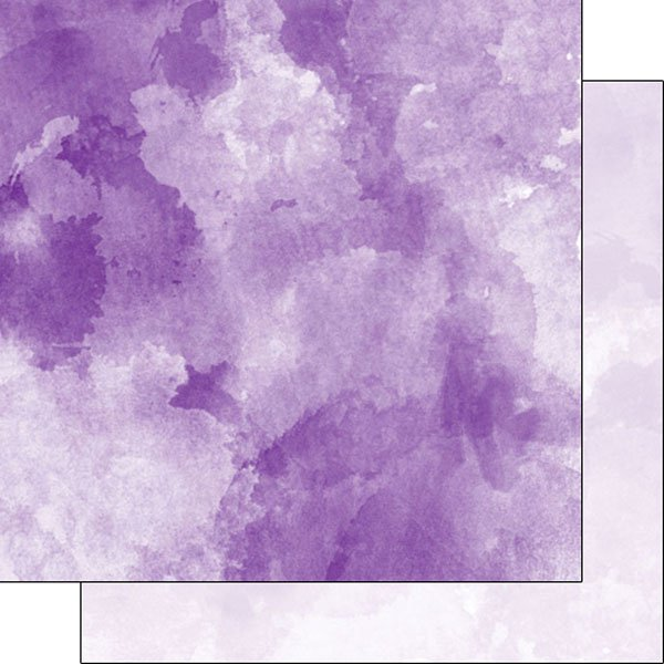 600x600 Scrapbook Customs Dark Purple And Light Purple Watercolor Paper