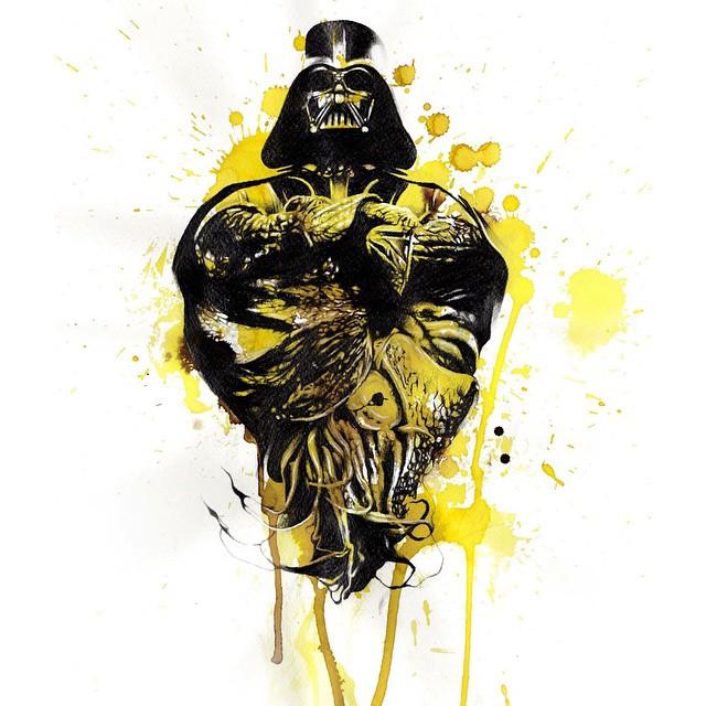 Darth Vader Watercolor
