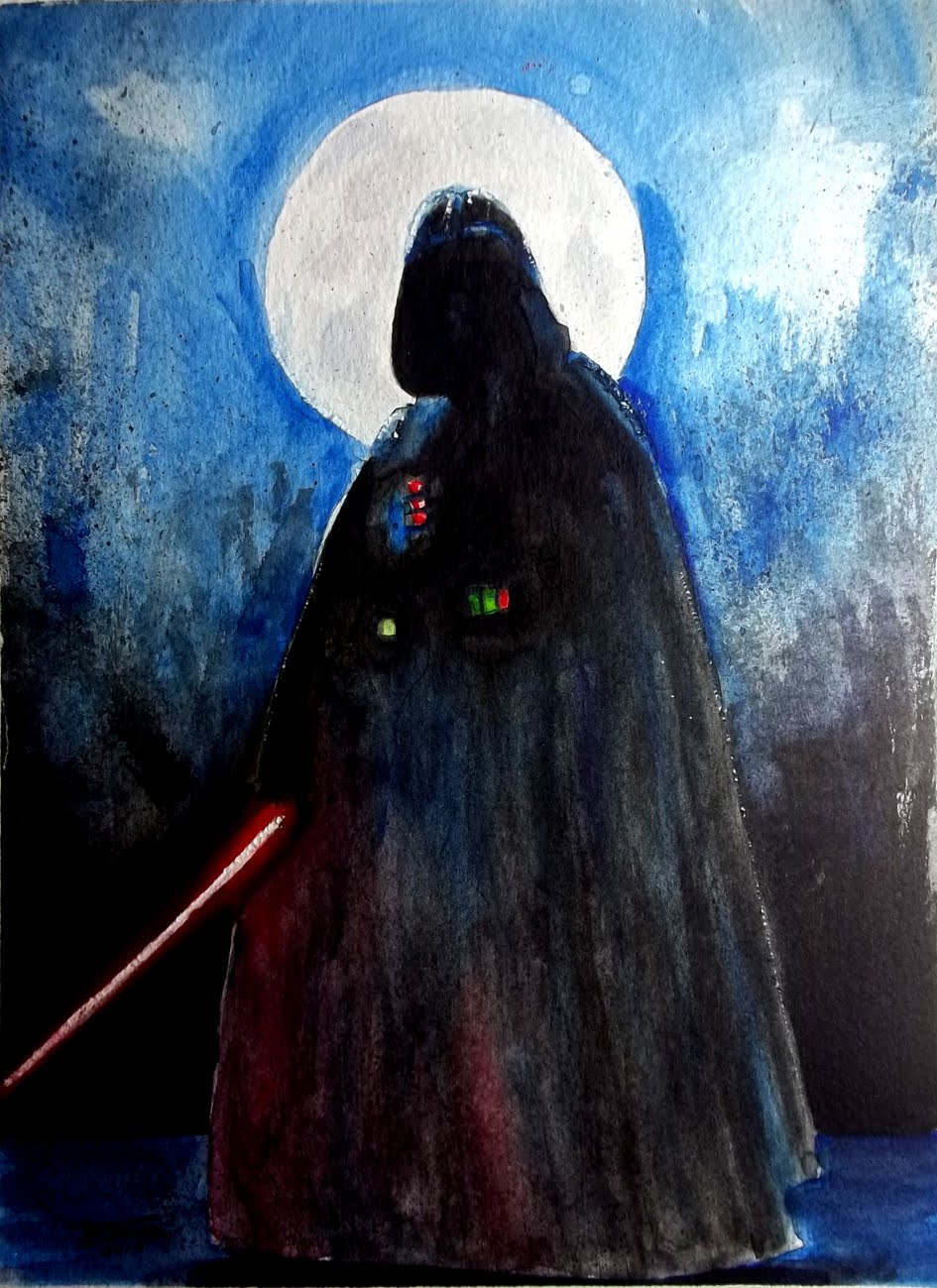 945x1299 Darth Vader Watercolor Speed Paing Time Lapse