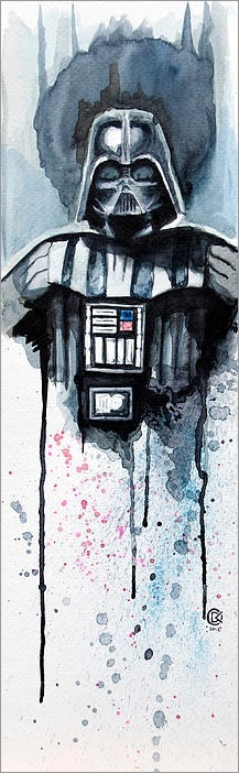 217x702 Darth Vader By David Kraig Star Wars Darth Vader