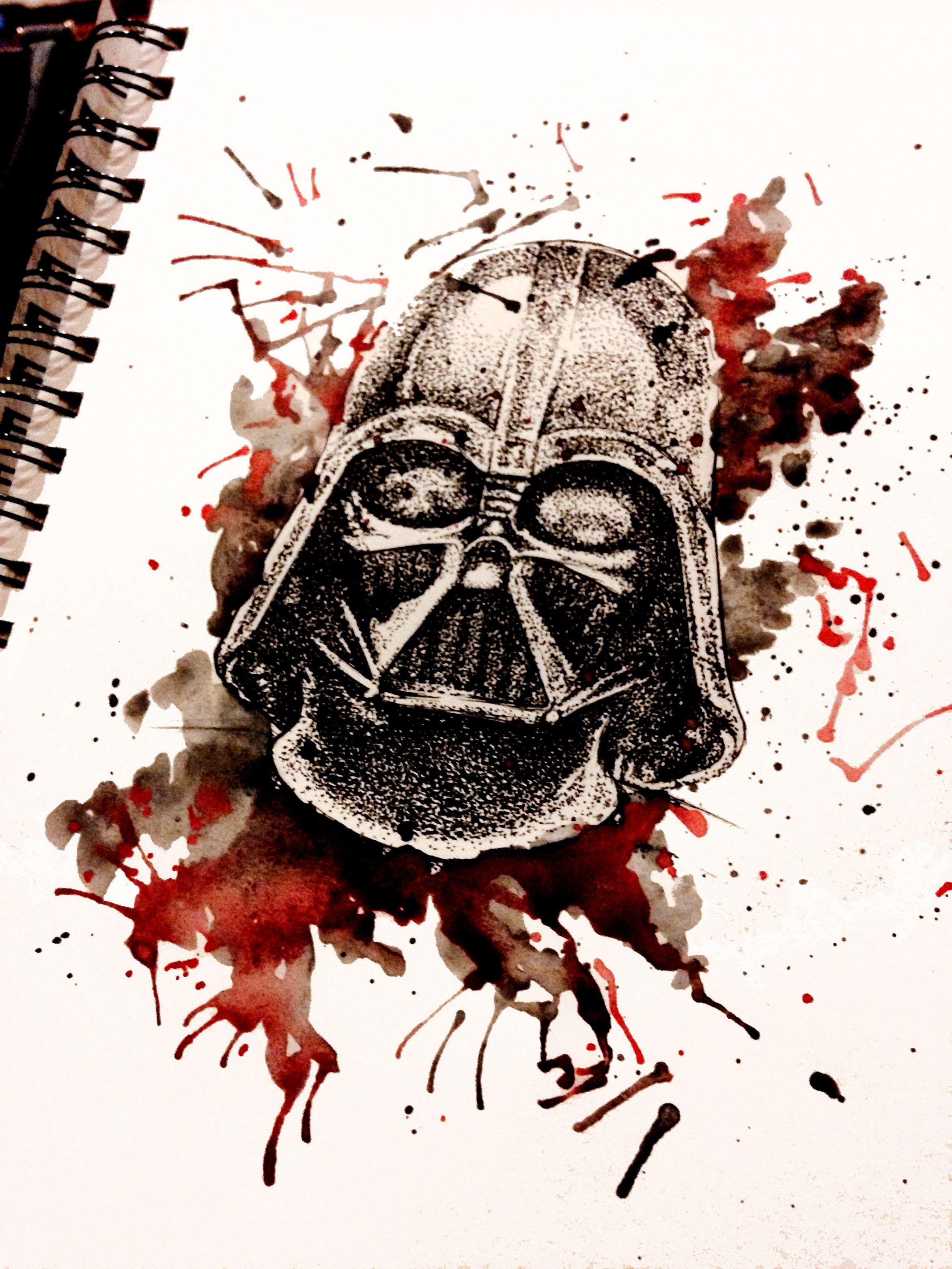 2346x3128 Darth Vader Watercolor Star Wars Darth Vader, Star
