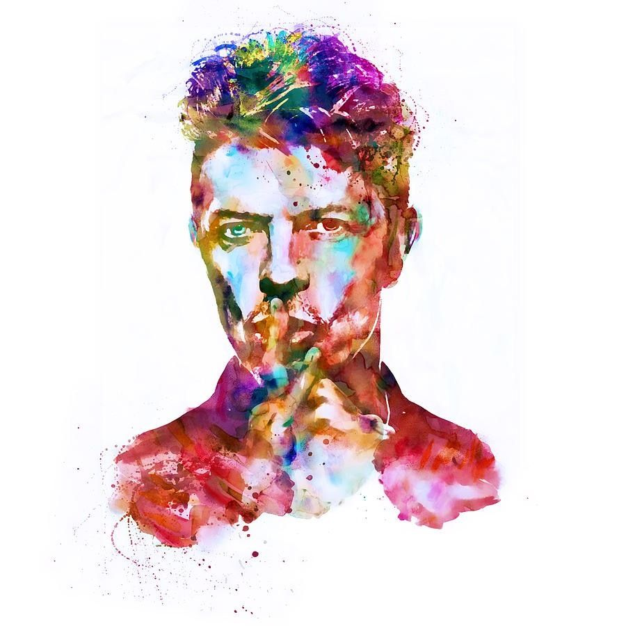 900x900 00239 David Bowie Watercolour Art Image Poster Print Ebay