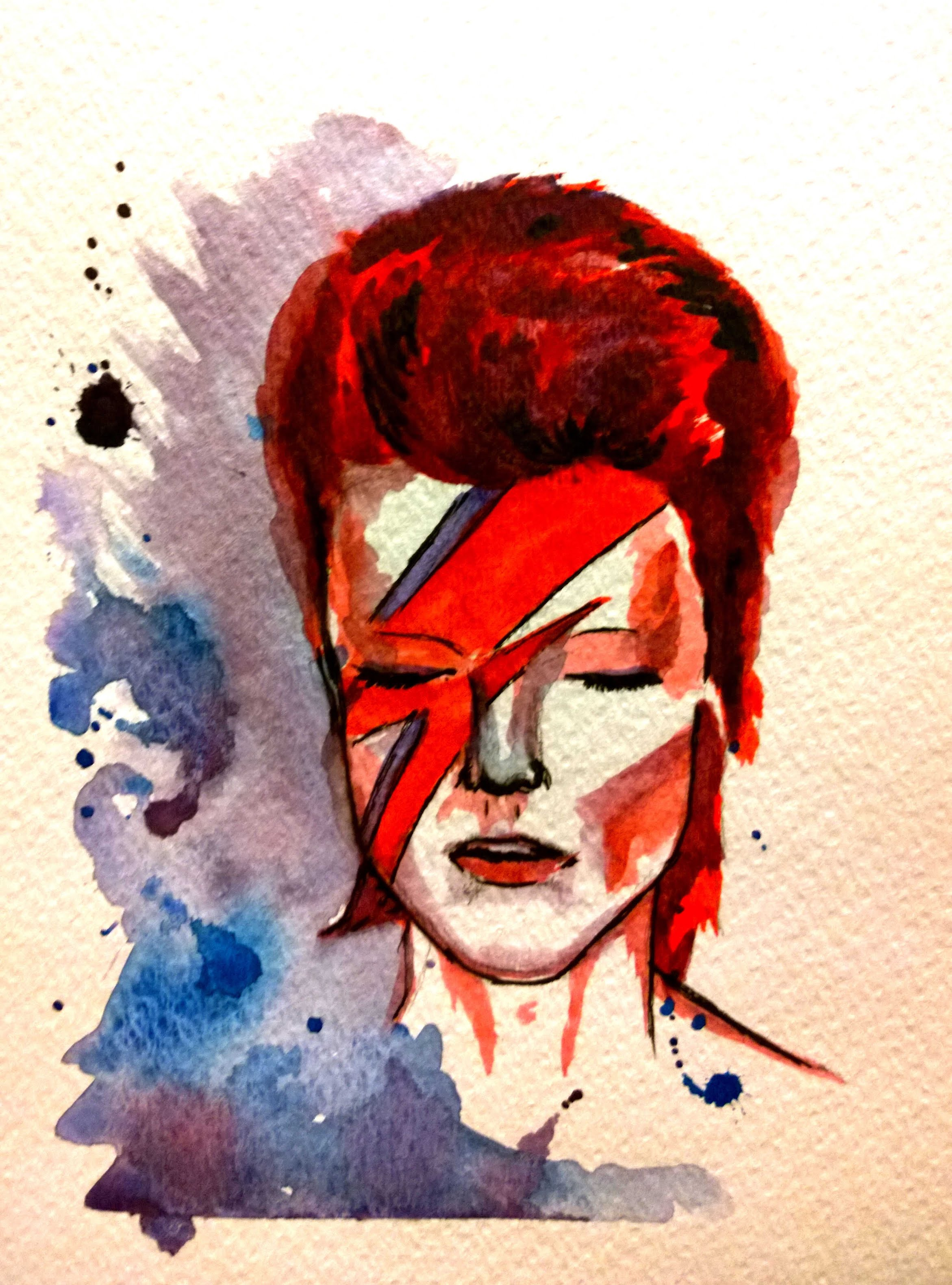 2342x3160 David Bowie Speed Painting