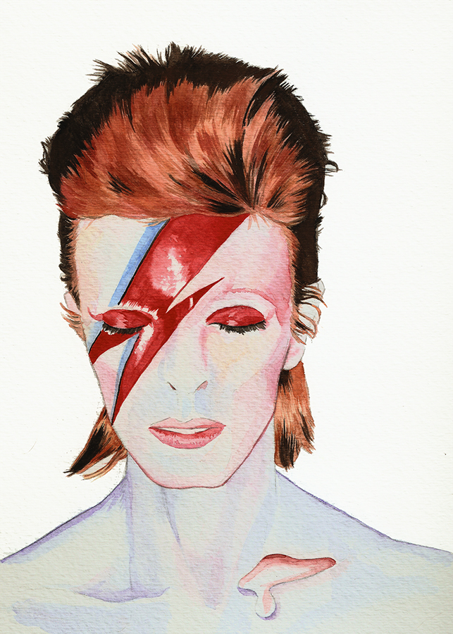 643x900 David Bowie Watercolor On Behance
