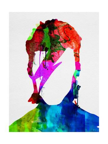 366x488 David Watercolor Portrait Print By Lora Feldman