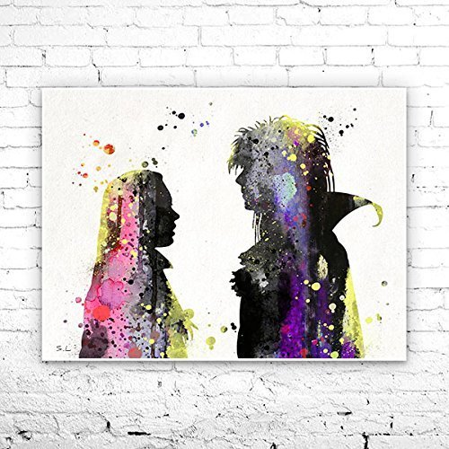 500x500 Labyrinth Sarah And David Bowie Print Watercolor