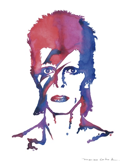 401x534 David Bowie Aquarela