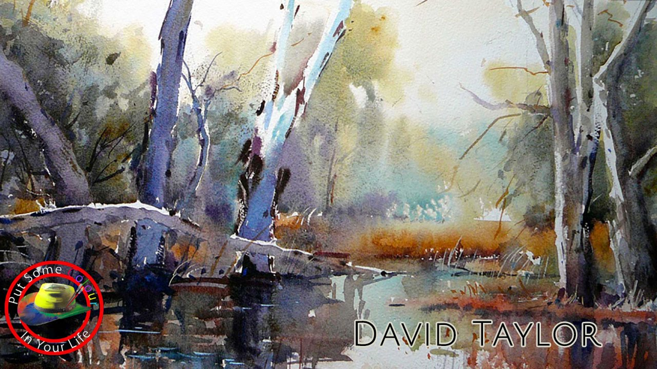 1280x720 David Taylor Paints Wonderful Water Colour Town Scene