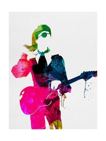 338x450 David Watercolor Art Print By Lora Feldman