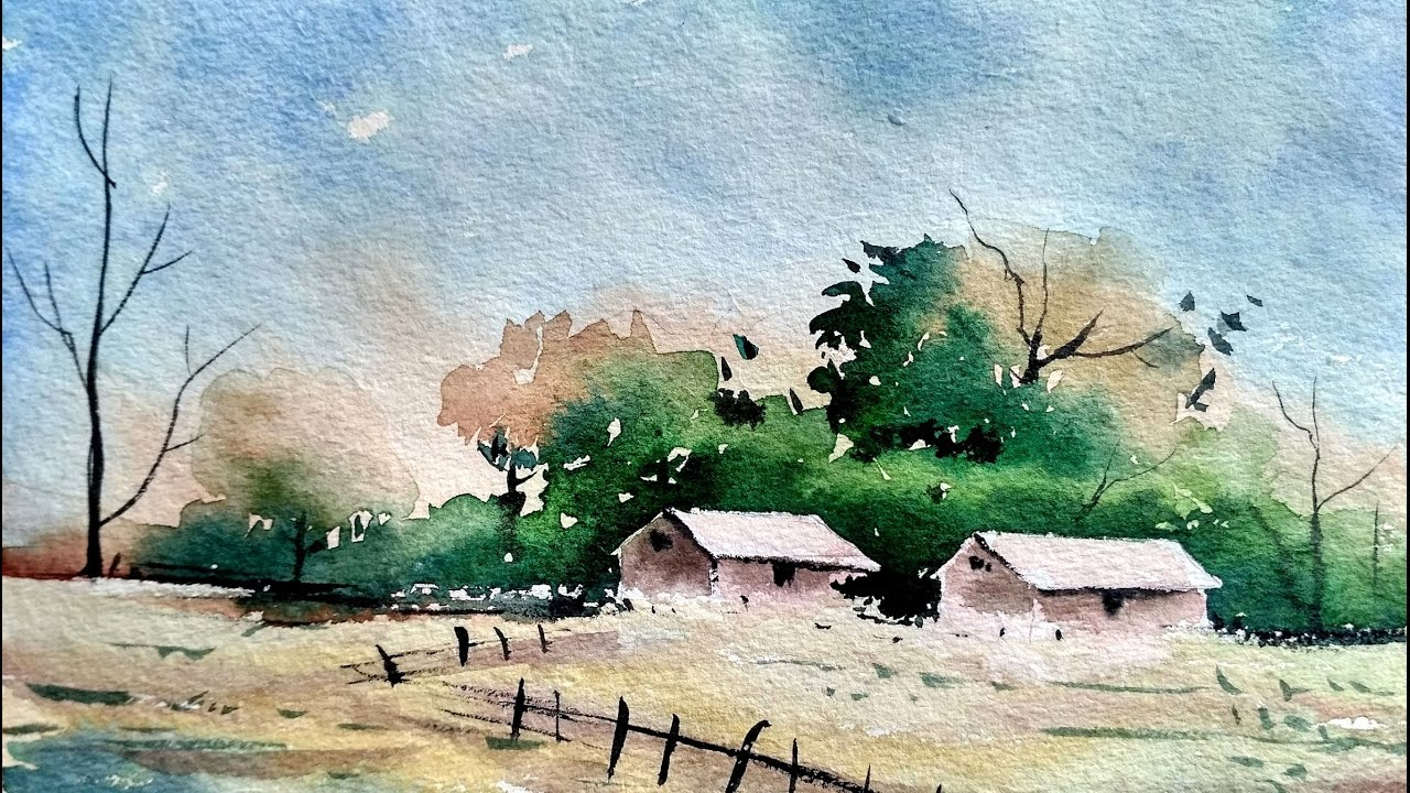 1280x720 Simple Watercolor Landscape Painting For Beginners Paint With