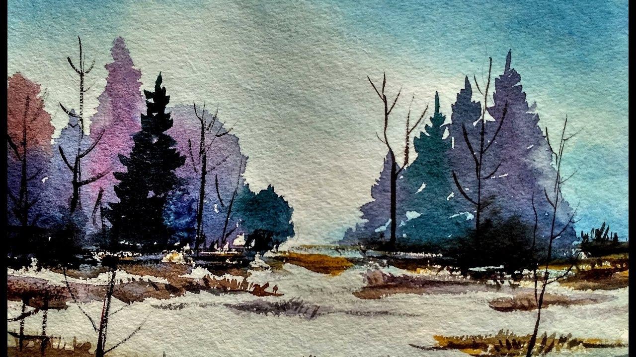 1280x720 Watercolor Landscape Tutorial How To Paint A Watercolor