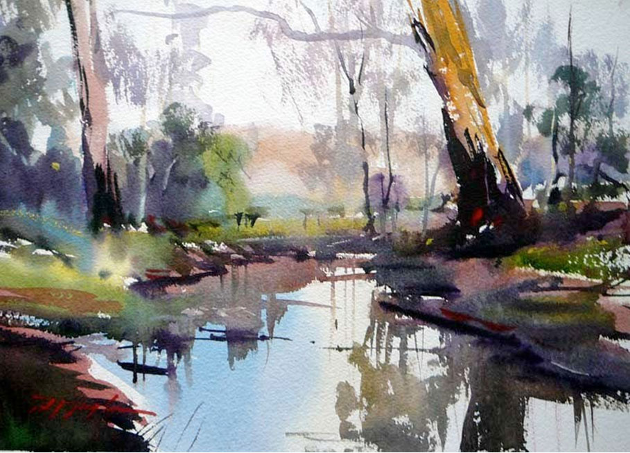 909x654 Art Of Watercolor David Taylor. Interview.