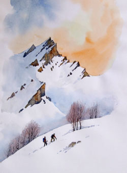 250x340 Wild Landscapes In Watercolour