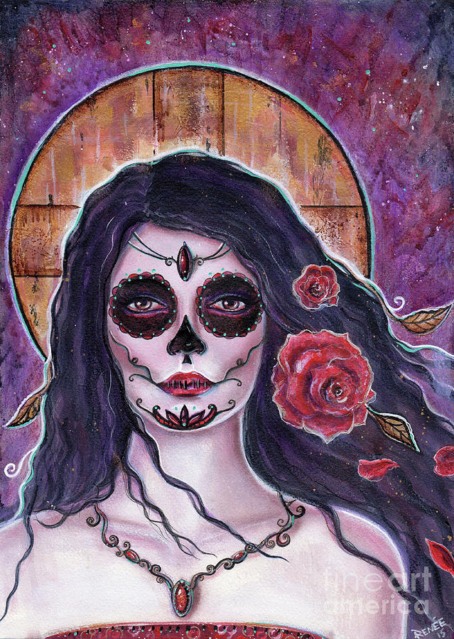 639x900 Alchemy Day Of The Dead Painting By Renee Lavoie