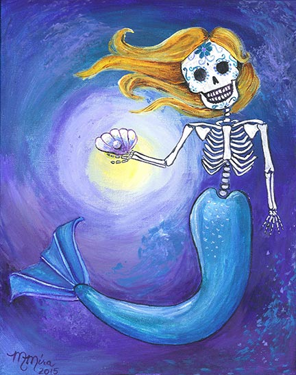 432x547 Day Of The Dead Mermaids