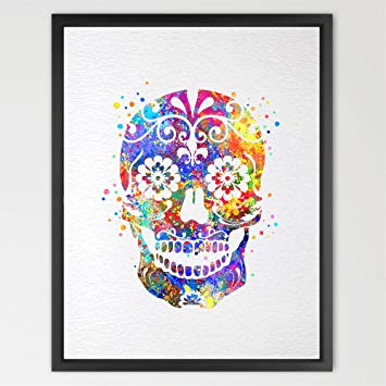 355x355 Dignovel Studios 11x14 Sugar Skull Day Of The Dead