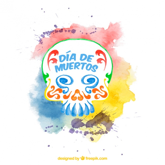 626x626 Watercolor Background For Day Of The Dead Vector Free Download