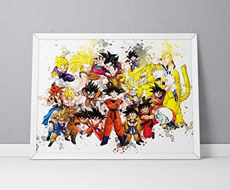 466x385 Dragon Ball Z Print, Dragon Ball Z Poster, Dbz Print, Dbz Poster
