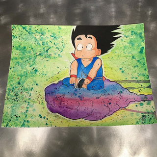 320x320 Kid Goku Watercolor Painting Ig Artby Dm Twitch Art By Dm