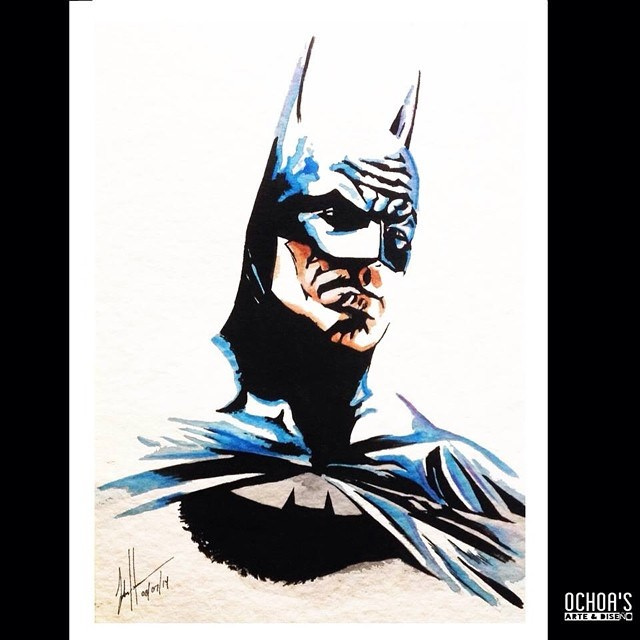 640x640 New Batman Portrait On Watercolor Paper And Watercolors