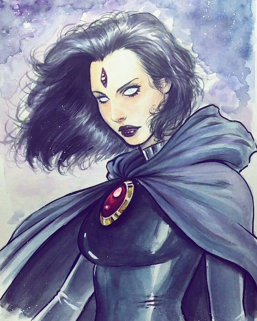 500x625 Raven Watercolor