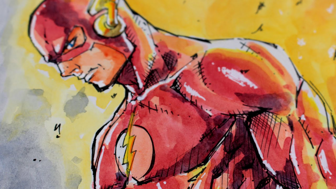 1280x720 Sketch Flash Dc Comics