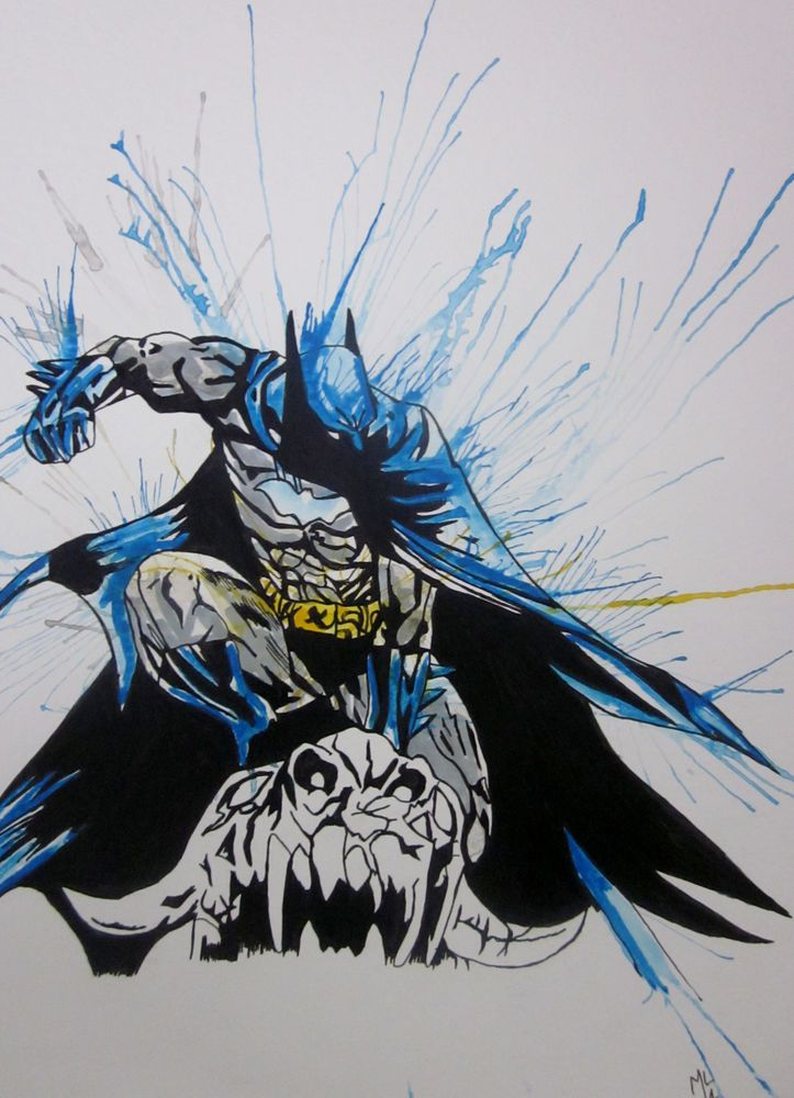 723x1000 Batman,dc,watercolor,a3,batman,art,artwork,painting,drawing,comic