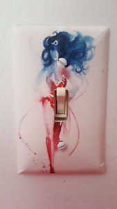 169x300 Dc Comics Watercolor Wonder Woman Light Switch Cover Plate Ebay