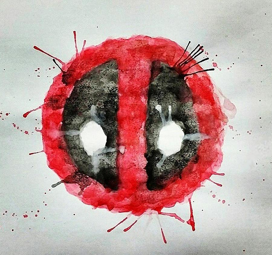 900x844 Deadpool Watercolor Painting By Dennis Daniel De Lima