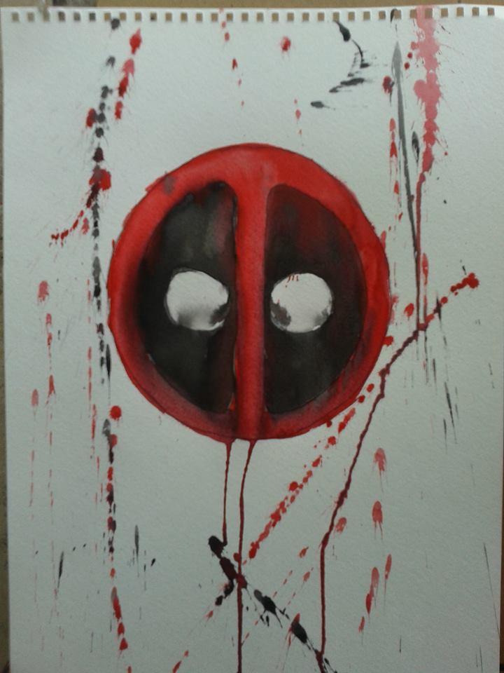720x960 Deadpool Watercolor Painting By Shrapnel92