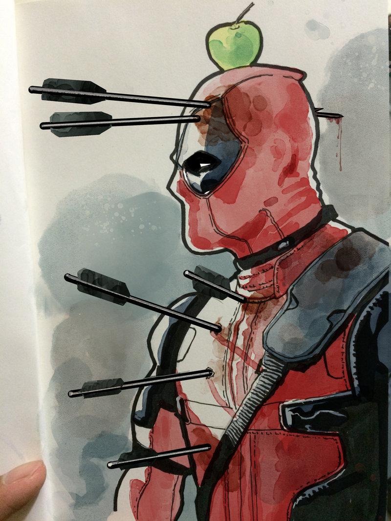 800x1067 Deadpool In Watercolor