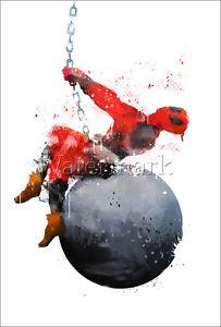 203x300 Art Print Deadpool Poster Illustration Wall Art Watercolor Ryan
