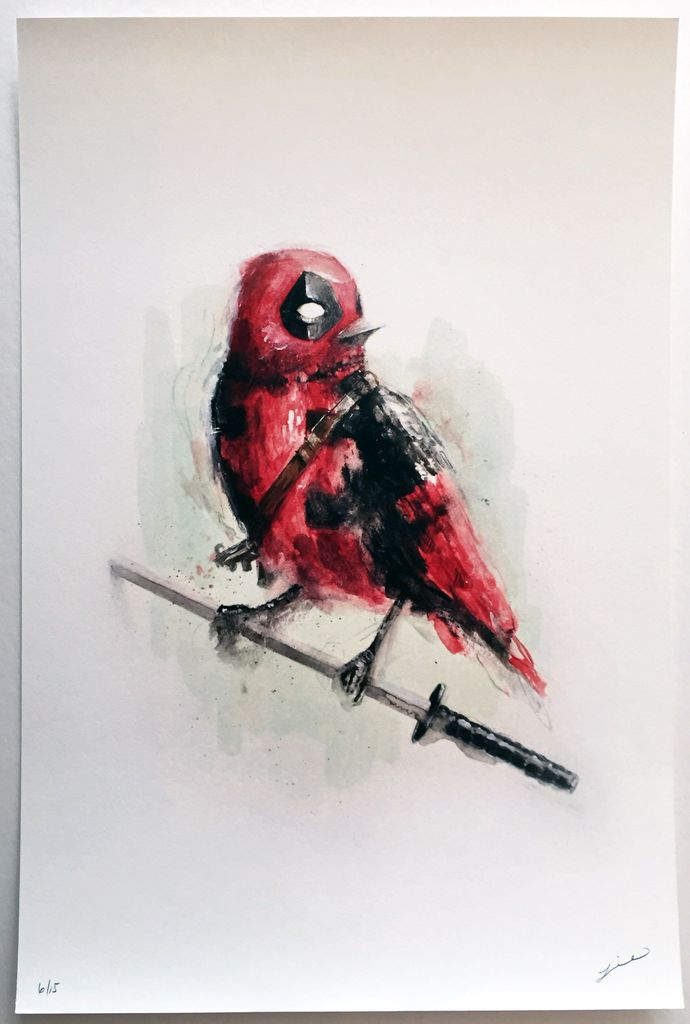 690x1024 Lie Deadpool Limited Edition Print By Vertical Gallery