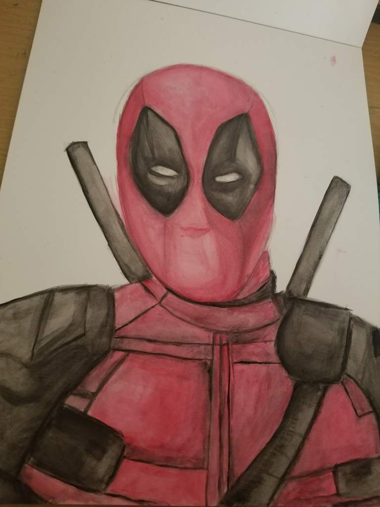 768x1024 Deadpool Watercolor Marvel Amino