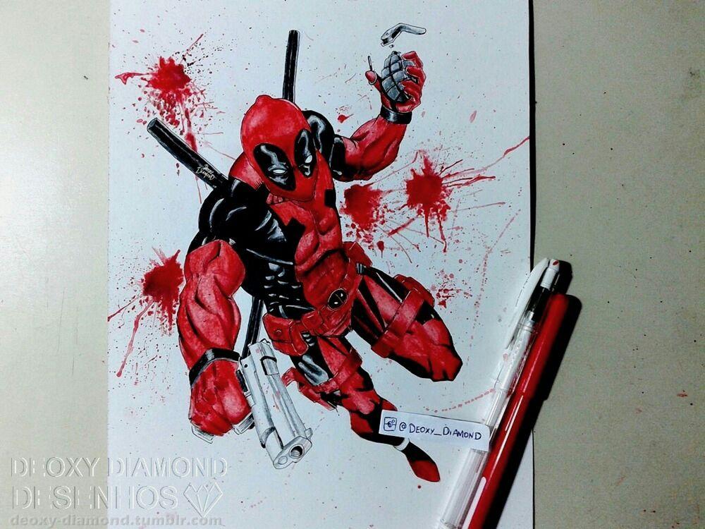 1000x750 Deadpool Watercolor By Deoxydiamond
