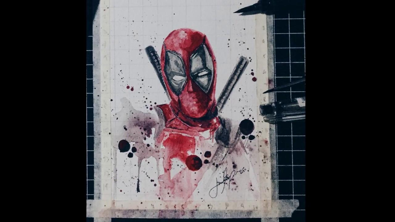 1280x720 Deadpool Watercolor