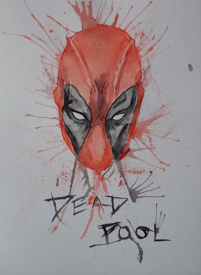 658x900 Deadpool Watercolor By Sh3ikha
