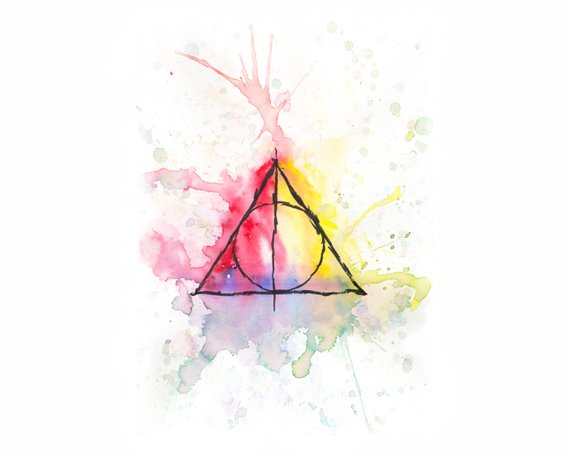 570x456 Harry Potter Deathly Hallows Invisibility Cloak Elder Wand Etsy