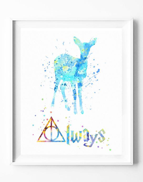 600x761 Harry Potter Patronus Charm Always Poster Deathly Hallows Art