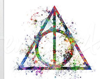 340x270 Harry Potter And The Deathly Hallows Watercolor By Genefyart