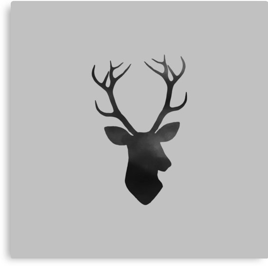 550x545 Deer Head Silhouette