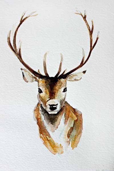 400x600 Gorgeous Deer Art Watercolour Artsy In 2018