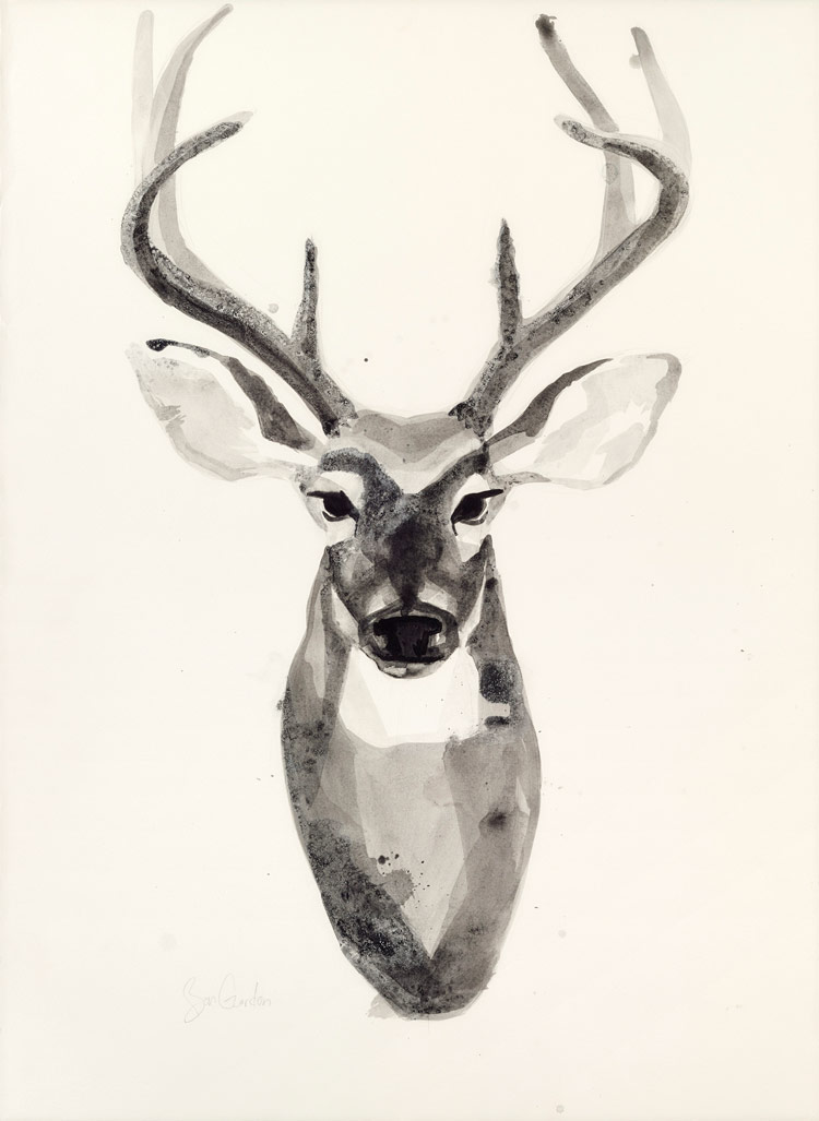 750x1027 Watercolor Deerhead 2 Grand Image Sale