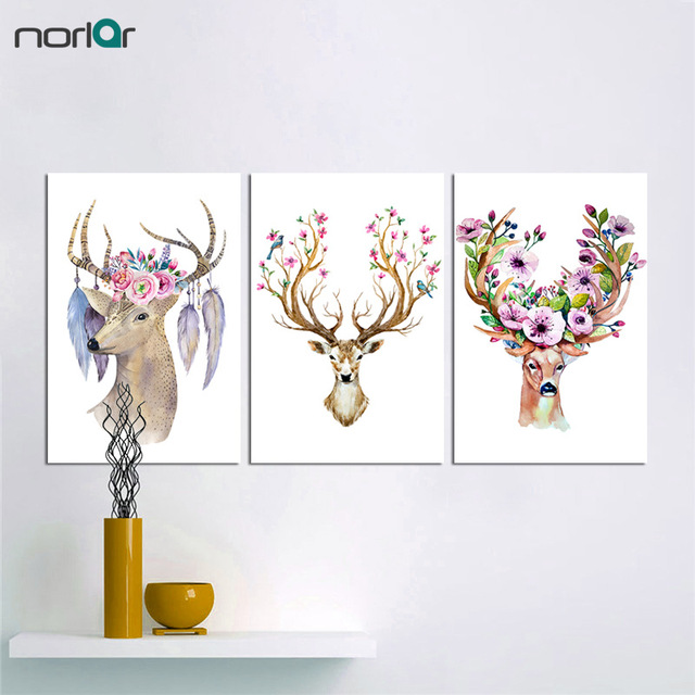 640x640 Buy Watercolor Retro Ancient Animal Deer Skull