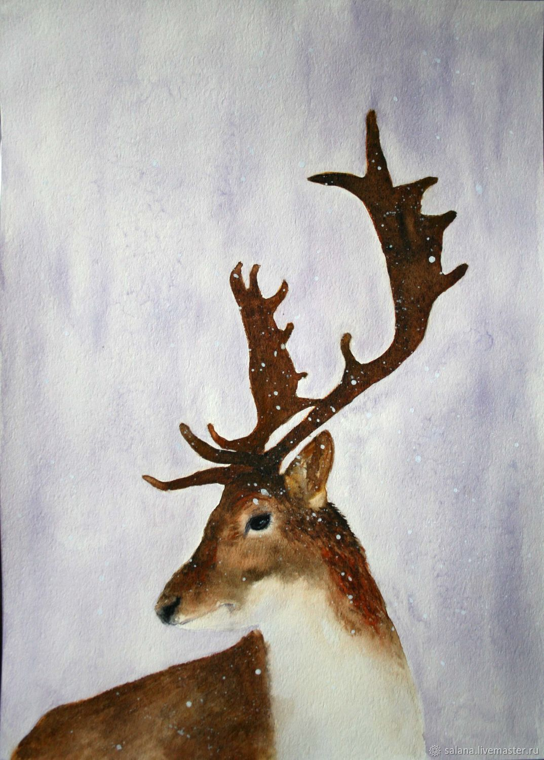 1074x1500 Deer. Watercolor Shop Online On Livemaster With Shipping