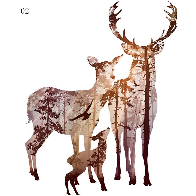 800x800 Haochu Forest Light And Shadow Landscape Deer Watercolor Pink