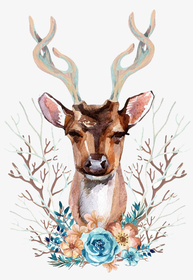 650x940 Watercolor Deer, Watercolor Clipart, Deer Clipart, Fawn Png Image